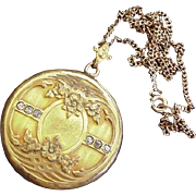 Early Art Deco Locket with Pictures