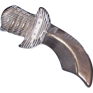 Clear Lucite Scimitar Pin