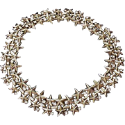Trifari Stars and Clear Rhinestone Vintage Choker Necklace - Red Tag Sale Item