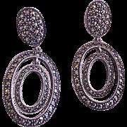 Sterling Silver Marcasite Judith Jack Earrings