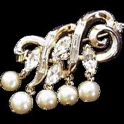Trifari Rhinestone Pin Vintage