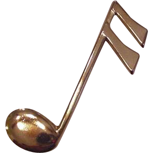 3 inch Musical Note Pin