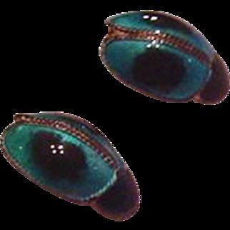 Sterling Silver Polychrome Enamel Bug Earrings