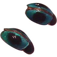 Sterling Silver Polychrome Enamel Bug Earrings