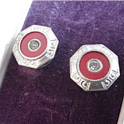 Art Deco Snap on Cufflinks in Original Box