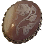 Victorian Cameo Carved Rose