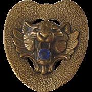 Victorian Lion Rhinestone Sash Pin