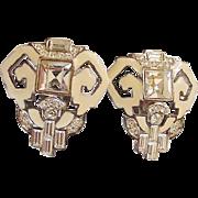 Givenchy Rhinestone Earrings Vintage