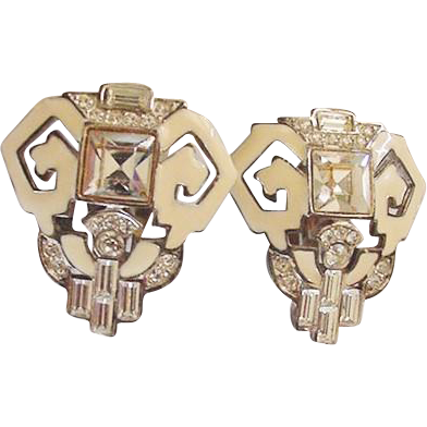 Givenchy Rhinestone Earrings Vintage