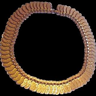 Old Coro Fringe Collar Necklace