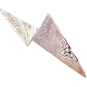 Sterling Silver Pin Mid Century Modern