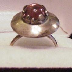 Mid Century Sterling Silver Amethyst Ring