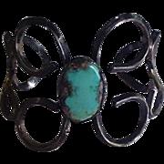 Sterling Silver and Turquoise Vintage Bracelet