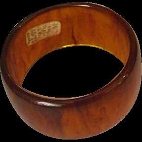 Rootbeer Swirl Lucite Wide Bracelet