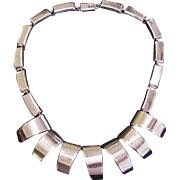 Mid Century Modern Sterling Silver Necklace