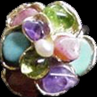 Swoboda Semi Precious Stones Ring