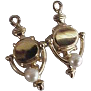 Sterling Silver Mechanical Doorknocker Earrings