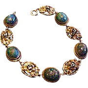 Old FLLI  Peruzzi Sterling and Lapis Bracelet