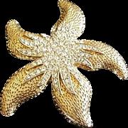 Starfish Rhinestone Pin Vintage