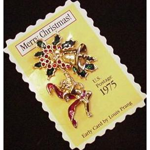 Smithsonian Copy 1975 Christmas Stamp Pin MIB