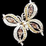 Napier Rhinestone Butterfly Pin