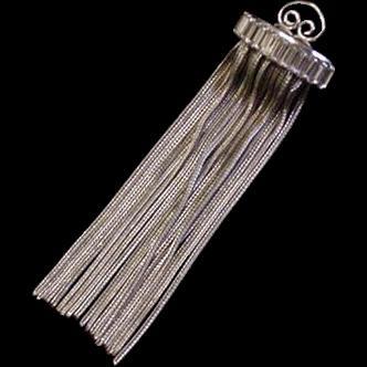 Silver Strands Rhinestone Vintage Pin