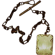 Victorian Watch Chain with Locket Fob