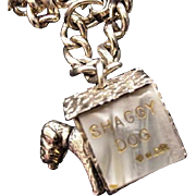 Shaggy Dog Charm Bracelet Vintage Walt Disney Productions