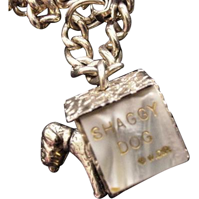 Shaggy Dog Charm Bracelet Vintage Walt Disney Productions