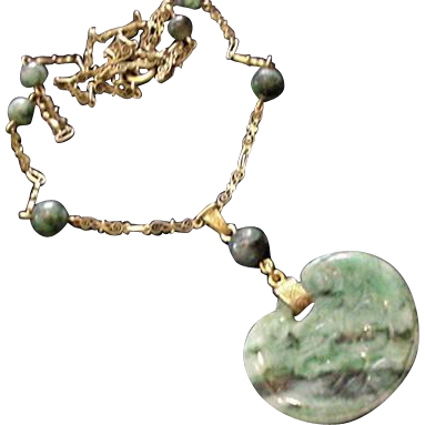 Fancy Chain Jade Necklace