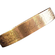 Antique Victorian Engraved Bracelet