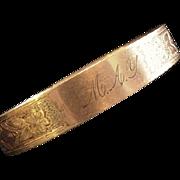 Antique Victorian Engraved Bracelet