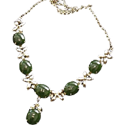 Jade Cabochons Necklace