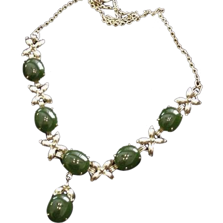 Jade Cabochons Necklace