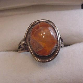 Mexican Fire Opal Sterling Silver Ring