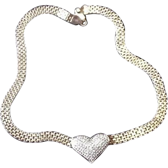 Sterling Silver Vermeil Heart Necklace