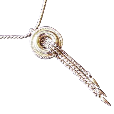 Victorian Revival Necklace with Dangles