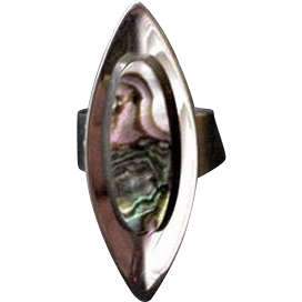 Sheffield England Abalone Ring