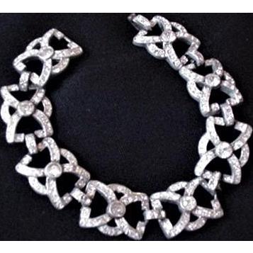 Art Deco Pot Metal Rhinestone Bracelet