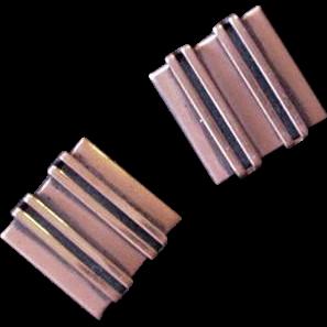 Mid Century Renior Copper Square Earrings