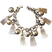 Victorian Revival Fringe and Cannon Ball Charms Braclet
