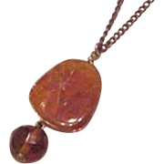 Dangling Amber Necklace