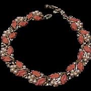 Trifari Leaf Motif Choker Necklace