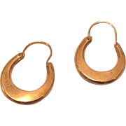 Vintage Creole Style Hoop Earrings