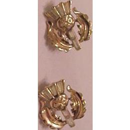 Trifari Rhinestone Thistle Earrings