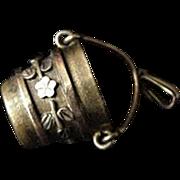 Victorian Coal Bucket Pendant Charm
