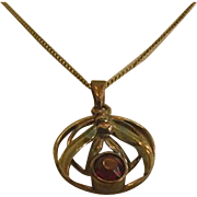 Retro Modern Red Rhinestone Necklace