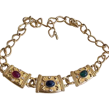 Egyptian Style Rhinestone Necklace