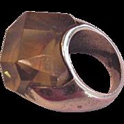 Big Vintage Lucite Ring