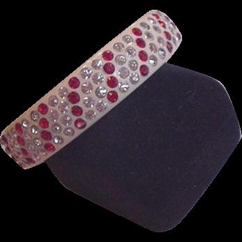 Art Deco Celluloid and Rhinestone Bracelet